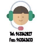 Puedes llamarnos al: 963342027 o enviarnosun Fax: 963343633.